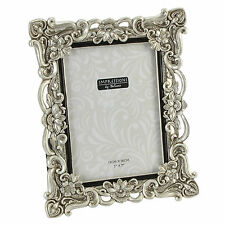 silver antique picture frames. Antique Silver Effect Floral Design Photo Frame - Various Sizes Picture Frames