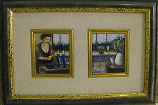 """Israeli Art - Dorit Levi - Room - OIL ON BOARD - 19"""" x 13"""" Framed -early work"""