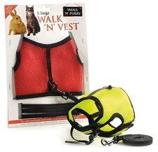 Walk 'N' Vest Small Pet Harness and Leash Rabbit Ferret Cat Guinea Pig Rat