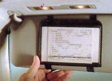 Black Sun Visor Insurance / Registration Wallet Vehicle Map/ Documents Organizer
