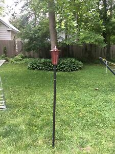 Rustic Cylinder Garden Torch