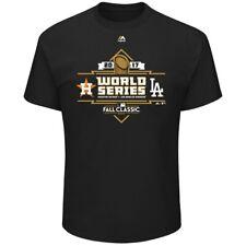 NWT Men's Houston Astros v Los Angeles Dodgers 2017 World Series BLK T-shirt 2XL