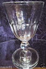 Ancien gros verre soufflé absinthe bistrot en cristal à facettes