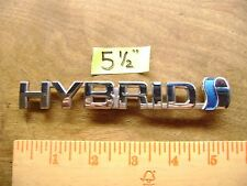 "HYBRID chrome & blue plastic emblem 5 1/2"" long For several different vehicles"