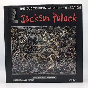 Vtg Jackson Pollock 550 Piece Jigsaw Puzzle Alchemy 1947 Guggenheim Museum 1996