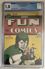 (1940) MORE FUN COMICS #62 CGC 1.0! Rare Golden Age SPECTRE! DOCTOR FATE!