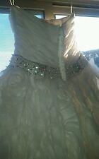 Rosa Clara Wedding dress /size 12/ light ivory / Roses /Couture beautiful dress!