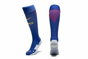 Barcelona Adults Football Socks 2017-18 Home Football Socks - Blue/Red - New