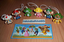 SUPER MARIO COMPLETE SET WITH ALL PAPERS KINDER SURPRISE 2016