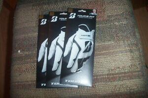 3 BRAND NEW Bridgestone Tour B Fit Mens LH  small / medium    Gloves