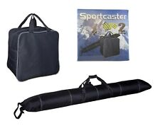 Sportcaster Adjustable Ski & Boot Bag Combo (2 Pieces), Holds Up to 190cm Skis