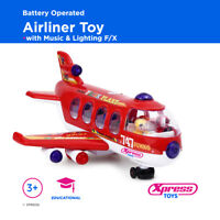 Huge Airliner Bump 'n Go Musical Lights Plane Aeroplane 747 Battery Operated Toy