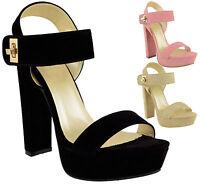Ladies Women High Heel Open Toe Cut Out Platform Party Summer Sandals Shoes Size