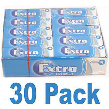 Wrigley's 30 Packets Extra Chewing Gum Peppermint Sugar Free Wrigleys Packs