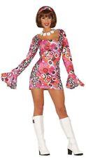 Sexy Ladies Hippie Costume Swinging 60s 70s  Hen Partie Fancy Dress Outfit