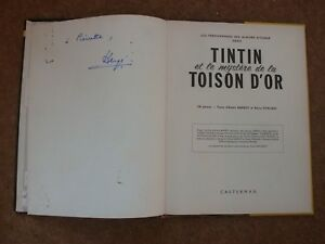 Tintin et Les Mystere De La Toison D'Or signed by Herge - rare.