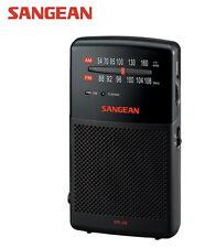 Sangean SR 35 AM/FM Analog Pocket Radio Black+Speaker AUS WNTY FREE SHIPPING