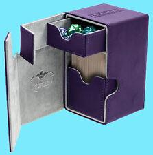 ULTIMATE GUARD FLIP n TRAY PURPLE 80+ XENOSKIN DECK CASE Card Box MTG CCG Game