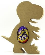 Dinosaur Rex Freestanding MDF Easter Creme Egg holder Craft 18mm Pack Of 10