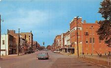 HENDERSON KENTUCKY BUSINESS SECTION OLD CARS~PARKING METERS POSTCARD c1960s