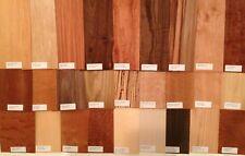 "20 - 6"" x 12"" Wood Veneer Pieces Variety sample Labeled Identified name label"