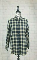 Soft Surroundings women's long sleeve plaid print shirt button front size 1 b10s