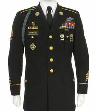 Mens US ARMY ASU SERVICE UNIFORM DEROSSI & SON Enlisted 36XLC DRESS BLUE JACKET