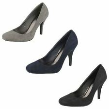Stiletto Patternless Court Casual Heels for Women