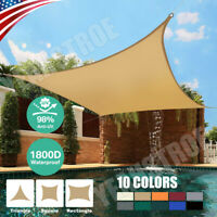 Sun Shade Sail Canopy Rectangle Sand 98% Uv Block Sunshade Backyard Deck Outdoor