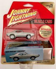 🏁 JOHNNY LIGHTNING 1969 Pontiac Firebird w/PRO COLLECTOR TIN SET 🏁