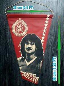 RUUD GULLIT Netherlands Chelsea Milan vintage pennant banderin wimpel