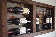 8 bottle Barn wood with Tin backing wine rack