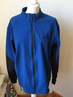 ALTURA Mens Blue Black Cycling Jacket Thermal Lining Size Large Zips At Back