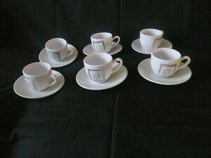 """Lot 6 tasses et sous tasses """"vaisselle SOLLEILLADE"""" pour camping"""