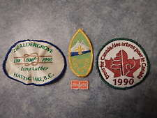 1990 Boy Scouts & Beavers of Canada:  Badge / Patch: Lot of 4