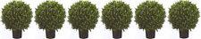 "6 ARTIFICIAL 24"" OUTDOOR UV BOXWOOD TOPIARY TREE PLANT BUSH BALL 2' PATIO PORCH"