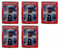 (5) 1991 Sports Cards #23 Troy Aikman Football Card Lot Dallas Cowboys