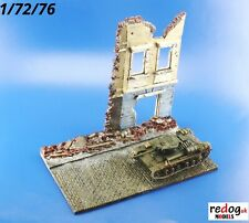 Redog 1/72 Ruined Building Street Military Scale Model Display Base Diorama D17