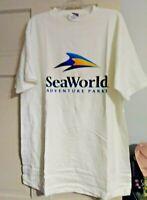 Seaworld Adventure Park white t-shirt Shamu on sleeve XL 100% cotton New