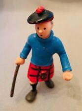 Personnage figurine miniature latex TINTIN Ile noire Hergé Plastoy 1994