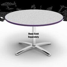 """Virco U48R - 48"""" Round Cafe Table Top Grey Nebula Purple Iris Edge Gry91 Pur43"""