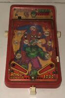 Vintage SPIDERMAN & HULK Mini Toy Pinball 1979 Castle Toy Company Working RARE