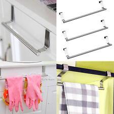 Hot Over Door Towel Rack Bar Hanging Steel Holder Bathroom Kitchen Cabinet Shelf