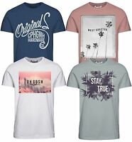 Jack & Jones Originals T-shirt Mens Crew Neck HIT Logo Print Cotton Tee