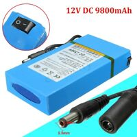 DC-1298A DC 12V 9800mAh Rechargeable Portable Li-ion Battery For CCTV Camera !