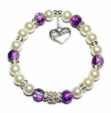 Personalised Bracelet Ladies Girls With Free Gift Bag 5 Colours Lots Of Charms