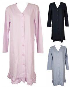 SG Vestaglia da camera donna manica lunga con bottoni in cotone RAGNO articolo D