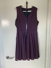 Review Navy And Red Polka Dot Dress Size 12