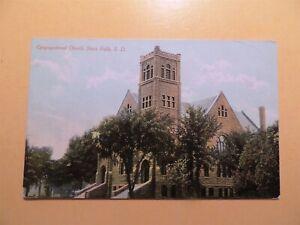 Congregational Church Sioux Falls South Dakota vintage postcard