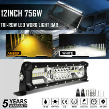 12INCH 756W CREE LED Work Light Bar Spot Flood Combo Offroad Pickup ATV Boat 12V